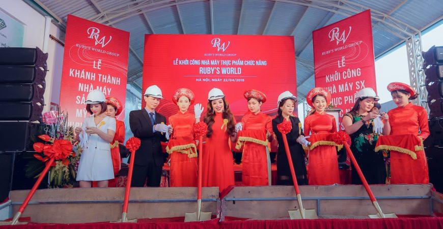 Lễ khởi công xây dựng Nhà máy sản xuất Thực phẩm chức năng Ruby's World
